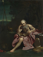 Full title: Saint Jerome in the Desert<br /> Artist: Giuseppe Maria Crespi<br /> Date made: 1710-20<br /> Source: http://www.nationalgalleryimages.co.uk/<br /> Contact: picture.library@nationalgallery.co.uk<br /> <br /> Copyright © The National Gallery, London
