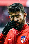 Diego Costa of Atletico de Madrid reacts prior to the La Liga 2017-18 match between Atletico de Madrid and RC Celta de Vigo at Wanda Metropolitano on March 11 2018 in Madrid, Spain. Photo by Diego Souto / Power Sport Images