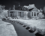 Historic House, Franklin, Tennessee (Infrared)  This beautifully preserved home, on West Main Street near the old town square, embodies some of the charm and elegance of the old South.  My infrared camera captured the finest details even in the harsh light of the midday sun.<br /> <br /> Image ©2016 James D. Peterson - All Rights Reserved