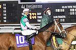January 16, 2021: Mandaloun in the Lecomte Stakes Day at Fair Grounds Race Course in New Orleans, Louisiana. Parker Waters/Eclipse Sportswire/CSM