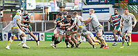 20th February 2021; Welford Road Stadium, Leicester, Midlands, England; Premiership Rugby, Leicester Tigers versus Wasps; Jasper Wiese of Leicester Tigers is tackled by Charlie Atkinson of Wasps