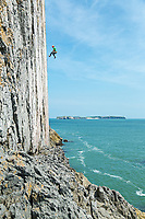 James Taylor on/off 'The Great White' E7 6c, White Tower, Pembroke