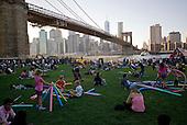 Brooklyn, New York<br /> September 27, 2014<br /> <br /> A perfect evening in Brooklyn Bridge Park, Dumbo.