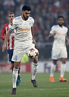 Olympique de Marseille's Morgan Sanson in action during the UEFA Europa League final football match between Olympique de Marseille and Club Atletico de Madrid at the Groupama Stadium in Decines-Charpieu, near Lyon, France, May 16, 2018.<br /> UPDATE IMAGES PRESS/Isabella Bonotto