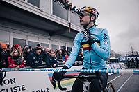 defending World Champion Wout Van Aert (BEL/Crelan-Charles) at the start<br /> <br /> Elite Men's Race<br /> 2018 CX World Championships<br /> Valkenburg - The Netherlands