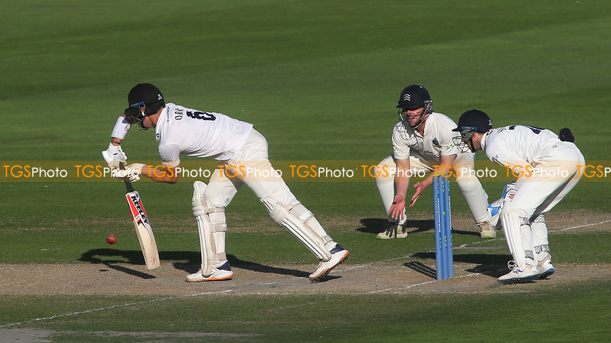 Sussex batsman, Ali Orr, plays a forward defensive shot during Sussex CCC vs Middlesex CCC, LV Insurance County Championship Division 3 Cricket at The 1st Central County Ground on 7th September 2021