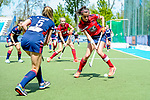 Mannheim, Germany, May 09: During the 1. Bundesliga women fieldhockey gold medal match between Duesseldorfer HC and Mannheimer HC on May 9, 2021 at Am Neckarkanal in Mannheim, Germany. (Copyright Dirk Markgraf / www.265-images.com) ***