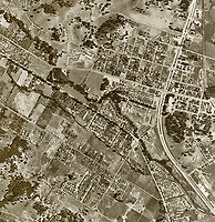 historical aerial photograph Novato, Marin County, California, 1952