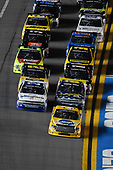 NASCAR Camping World Truck Series<br /> NextEra Energy Resources 250<br /> Daytona International Speedway, Daytona Beach, FL USA<br /> Friday 16 February 2018<br /> David Gilliland, Kyle Busch Motorsports, Pedigree Toyota Tundra, Johnny Sauter, GMS Racing, Allegiant Airlines Chevrolet Silverado<br /> World Copyright: Logan Whitton<br /> LAT Images