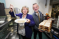 NO REPRO FEE. 24/11/2010. Focus Ireland CEO Joyce Loughnan and Merchant's Quay Ireland CEO Tony Geoghegan are pictured at the launch of a new partnership service today which is run by both charities at Focus Ireland's Coffee Shop in Temple Bar and is aimed at supporting the most marginalised people who are homeless - especially those sleeping rough in Dublin. Picture  James Horan/Collins Photos.