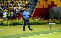 BUCARAMANGA - COLOMBIA - 11 - 02 - 2018: Huberth Bodhert, técnico de Once Caldas, durante partido entre Atletico Bucaramanga y Once Caldas, de la fecha 2 por la Liga Aguila I 2018, jugado en el estadio Alfonso Lopez de la ciudad de Bucaramanga. / Huberth Bodhert, coach of Once Caldas, during a match between Atletico Bucaramanga and Once Caldas, for the 2nd date for the Liga Aguila I 2018 at the Alfonso Lopez Stadium in Bucaramanga city Photo: VizzorImage / Duncan Bustamante / Cont.