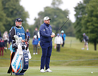 3rd July 2021; Mount Juliet Golf Club, Kilkenny, Ireland; Dubai Duty Free Irish Open Golf, Day Three; Shane Lowery of the Republic of Ireland prepares to take his second shot on the 1st hole