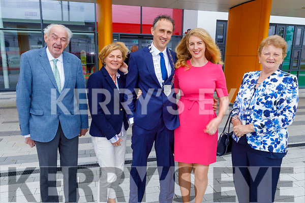 Michael O'Connor Scarteen, Mary O.Connell, Cllr Patrick O'Connor Scarteen (Cathaoirleach of Kerry County Council), Katie O'Connell and Elenor O'Connor Scarteen at the County Council meeting on Monday pictured with his wife Katie.