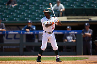 James Davison (51) of the Miami Hurricanes at bat against the Georgia Tech Yellow Jackets during game one of the 2017 ACC Baseball Championship at Louisville Slugger Field on May 23, 2017 in Louisville, Kentucky. The Hurricanes walked-off the Yellow Jackets 6-5 in 13 innings. (Brian Westerholt/Four Seam Images)