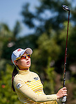 Char-Young Kim of Korea in action during the Hyundai China Ladies Open 2014 at World Cup Course in Mission Hills Shenzhen on December 14 2014, in Shenzhen, China. Photo by Xaume Olleros / Power Sport Images