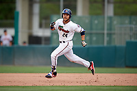 Fort Myers Miracle first baseman Zander Wiel (24) running the bases during a game against the Jupiter Hammerheads on April 9, 2017 at CenturyLink Sports Complex in Fort Myers, Florida.  Jupiter defeated Fort Myers 3-2.  (Mike Janes/Four Seam Images)