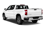 Car pictures of rear three quarter view of 2020 Chevrolet Silverado-1500 LT 4 Door Pick-up Angular Rear
