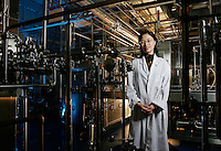 Linda Zhang, R&D Lab Manager for Coca Cola China, shown here at the company's research labaratory in Shanghai, China. ©Qilai Shen/Sinopix