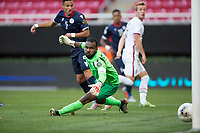 ZAPOPAN, MEXICO - MARCH 21: Jackson Yueill #6 of the United States watches a ball go into the goal during a game between Dominican Republic and USMNT U-23 at Estadio Akron on March 21, 2021 in Zapopan, Mexico.