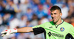 Vicente Guaita Panadero of Getafe CF gestures during the La Liga 2017-18 match between Getafe CF and Real Madrid at Coliseum Alfonso Perez on 14 October 2017 in Getafe, Spain. Photo by Diego Gonzalez / Power Sport Images