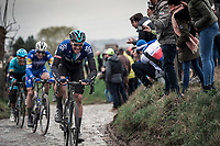 Ian Stannard (GBR/Team Sky) chasing. <br /> <br /> 71st Kuurne-Brussel-Kuurne (2019)<br /> Kuurne > Kuurne 201km (BEL)<br /> <br /> ©kramon