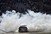 NASCAR XFINITY Series<br /> O'Reilly Auto Parts 300<br /> Texas Motor Speedway<br /> Fort Worth, TX USA<br /> Saturday 4 November 2017<br /> Erik Jones, GameStop Call of Duty WWII Toyota Camry, does a burnout after winning<br /> World Copyright: John K Harrelson<br /> LAT Images