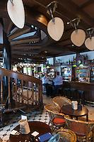 Raffles Hotel Long Bar tables, Singapore