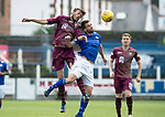 Queen of the South v St Johnstone…18.08.18…  Palmerston    BetFred Cup<br />Murray Davidson in his 300th game for saints pictured with Kyle Jacobs<br />Picture by Graeme Hart. <br />Copyright Perthshire Picture Agency<br />Tel: 01738 623350  Mobile: 07990 594431