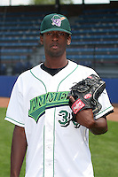 Jamestown Jammers Esequier Pie poses for a photo before a NY-Penn League game at Russell Diethrick Park on July 1, 2006 in Jamestown, New York.  (Mike Janes/Four Seam Images)