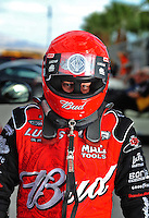 Oct. 31, 2008; Las Vegas, NV, USA: NHRA top fuel dragster driver Brandon Bernstein during qualifying for the Las Vegas Nationals at The Strip in Las Vegas. Mandatory Credit: Mark J. Rebilas-