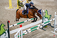 NZL-Annabel Francis rides La Quinara. Class 22: Fiber Fresh Horse 1.40m Ranking Class. 2021 NZL-Easter Jumping Festival presented by McIntosh Global Equestrian and Equestrian Entries. NEC Taupo. Saturday 3 April. Copyright Photo: Libby Law Photography
