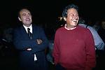 MICHELE SANTORO CON PAOLO LIGUORI<br /> FESTA PER I 60 ANNI DI MAURIZIO COSTANZO<br /> MANEGGIO DI GIANNELLA  1998