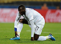 Jozy Altidore of USA holds his ankle. USA defeated Egypt 3-0 during the FIFA Confederations Cup at Royal Bafokeng Stadium in Rustenberg, South Africa on June 21, 2009.