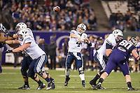 SAN FRANCISCO, CA - December 27, 2013: The 2013 Kraft Fight Hunger Bowl; Washington Huskies and the BYU Cougars at AT&T Park in San Francisco, California. Final score Washington Huskies 31, BYU Cougars 16.
