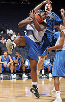 #116 gets the rebound during the NBA Top 100 Camp held Saturday June 23, 2007 at the John Paul Jones arena in Charlottesville, Va. (Photo/Andrew Shurtleff)