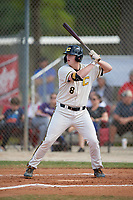 Hunter Stokely (8) during the WWBA World Championship at the Roger Dean Complex on October 13, 2019 in Jupiter, Florida.  Hunter Stokely attends Fike High School in Wilson, NC and is committed to North Carolina.  (Mike Janes/Four Seam Images)
