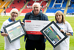 St Johnstone v Partick Thistle…28.04.18…  McDiarmid Park    SPFL<br />Saints in the Community cheque presentationto Atholl Henderson<br />Picture by Graeme Hart. <br />Copyright Perthshire Picture Agency<br />Tel: 01738 623350  Mobile: 07990 594431