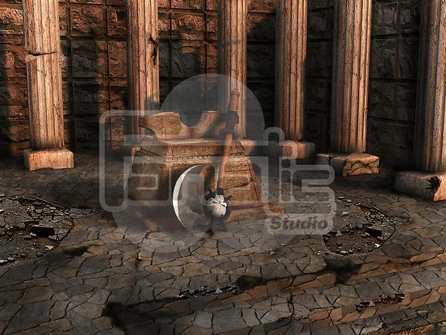 Execution axe with a block