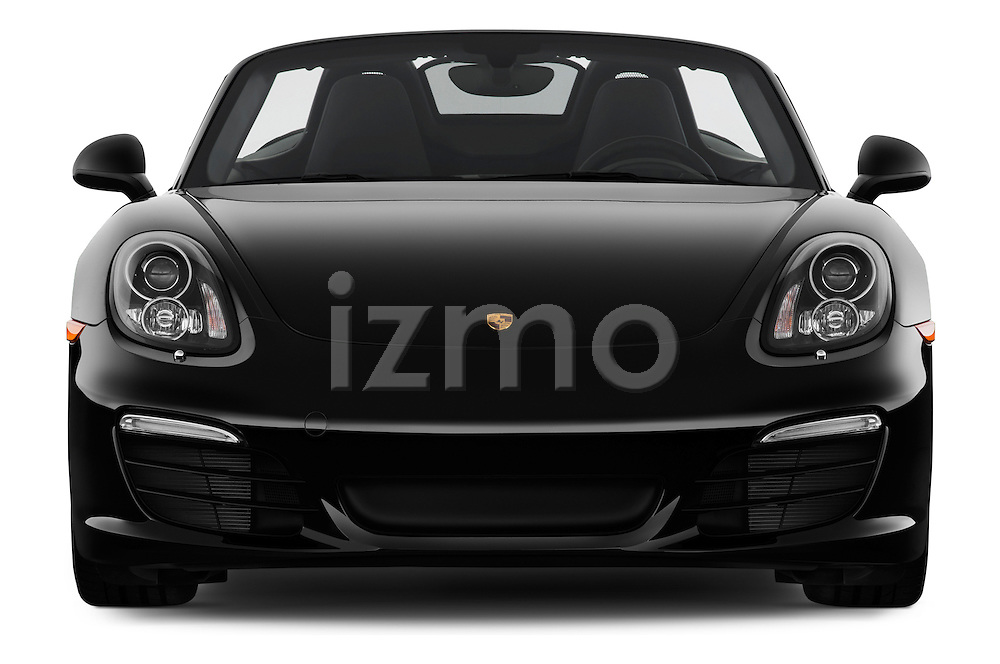 Straight front view of a 2013 Porsche Boxster S