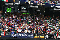 LAS VEGAS, NV - AUGUST 1: USA fans before a game between Mexico and USMNT at Allegiant Stadium on August 1, 2021 in Las Vegas, Nevada.
