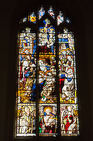 UK, England, Cambridge.  Corpus Christi Chapel, Stained Glass, probably of Flemish origin, 14th. Century.