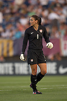 US goalkeeper Hope Solo (1). The US Women's national team beat Sweden, 3-0, at Rentschler Field on July 17, 2010.