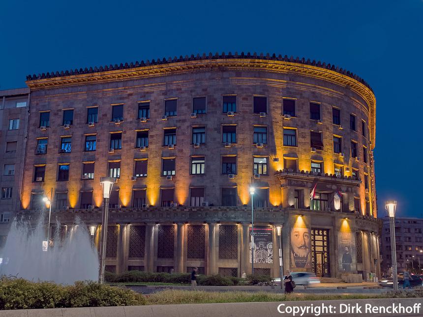 historisches Museum am Trg Nikole Pasica, Belgrad, Serbien, Europa<br /> Historical museum at Trg Nikole Pasica,  Belgrade, Serbia, Europe