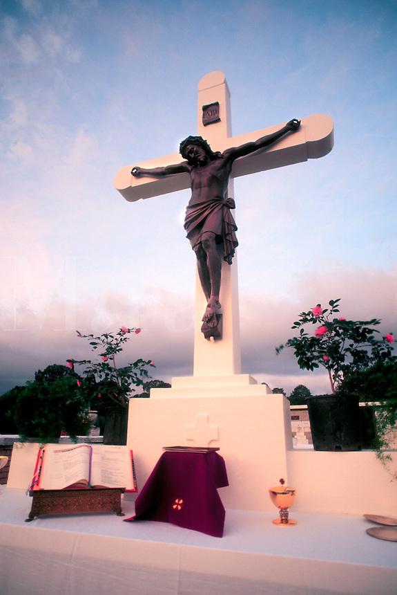 crucifix at a cemetery