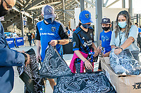 SAN JOSE, CA - SEPTEMBER 4: San Jose Earthquakes fans at PayPall Park before a game between Colorado Rapids and San Jose Earthquakes at PayPal Park on September 4, 2021 in San Jose, California.