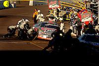 Nov 13, 2005; Phoenix, Ariz, USA;  Nascar Nextel Cup driver Sterling Marlin driver of the #40 Coors Light Dodge makes a pit stop during the Checker Auto Parts 500 at Phoenix International Raceway. Mandatory Credit: Photo By Mark J. Rebilas