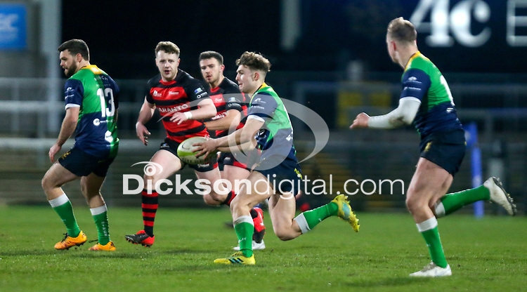 Friday 6th March 2020 | Armagh RFC vs Ballynahinch RFC<br /> <br /> Greg Hutley during the Bank Of Ireland Ulster Senior Cup Final between the City of Armagh RFC and Ballynahinch RFC at Kingspan Stadium, Ravenhill Park, Belfast, Northern Ireland. Photo by John Dickson / DICKSONDIGITAL