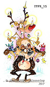 Fabrizio, Comics, CHRISTMAS SANTA, SNOWMAN, paintings, ITFZ15,#x# stickers Weihnachten, Navidad, illustrations, pinturas