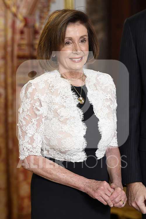 U.S. House Speaker Nancy Pelosi because of the United Nations conference for the Climate Summit 2019 (COP25) at the Royal Palace. December 2,2019. (ALTERPHOTOS/Pool/Carlos Alvarez)