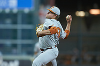 Texas Longhorns starting pitcher Bryce Elder (13) in action against the LSU Tigers in game three of the 2020 Shriners Hospitals for Children College Classic at Minute Maid Park on February 28, 2020 in Houston, Texas. The Tigers defeated the Longhorns 4-3. (Brian Westerholt/Four Seam Images)